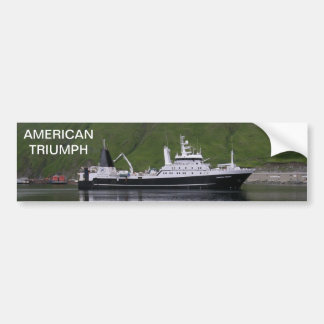 Triumph americano, barco rastreador de fábrica pegatina de parachoque