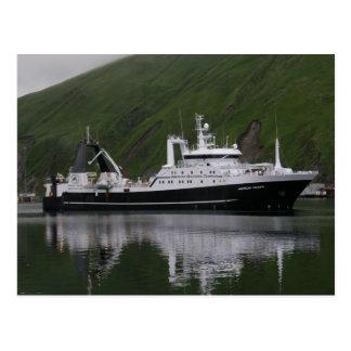 Triumph americano, barco rastreador de fábrica postales