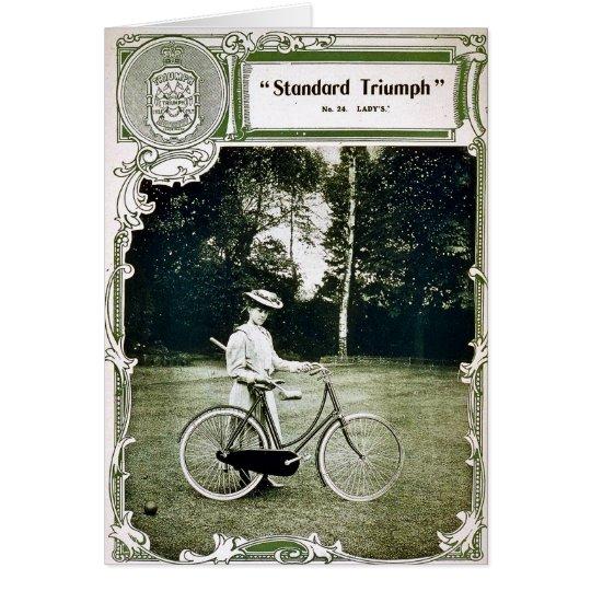 Triumph completa un ciclo no. 1907 Standard de Tarjeta De Felicitación