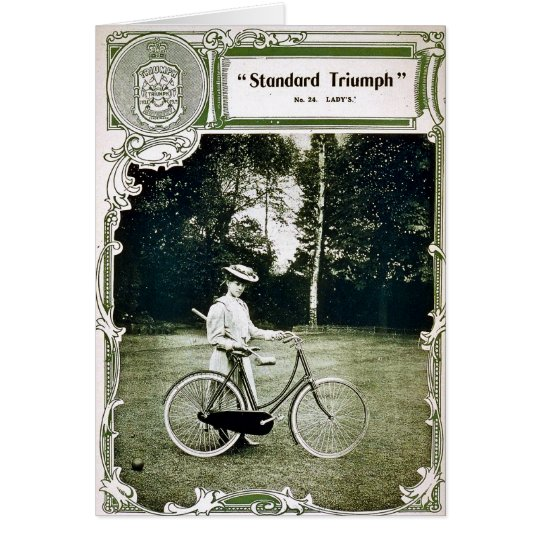 Triumph Cycles 1907 Lady's Standard No. 24 Card