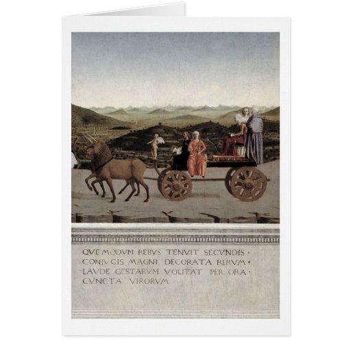 Triumph de Battista Sforza, duquesa de Urbino. Pal Tarjeta De Felicitación