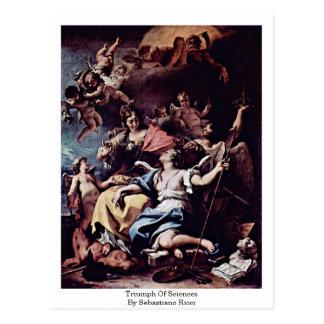 Triumph de ciencias de Sebastiano Ricci Postales