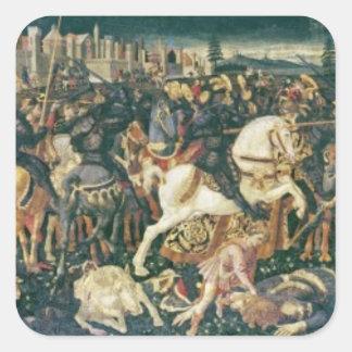 Triumph de David y de Saul, c.1445-55 Pegatina Cuadrada