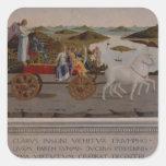 Triumph de Federigo DA Montefeltro, duque de Pegatina Cuadrada