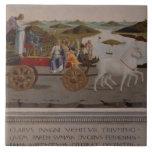 Triumph de Federigo DA Montefeltro, duque de Urbin Azulejo Cuadrado Grande