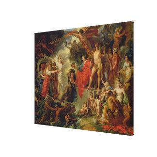 Triumph de la civilización, c.1794-98 lienzo envuelto para galerías