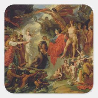 Triumph de la civilización, c.1794-98 calcomanías cuadradass