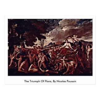 Triumph de la flora, por Nicolás Poussin Tarjeta Postal