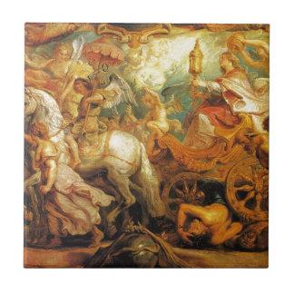 Triumph de la iglesia de Peter Paul Rubens Azulejo Cuadrado Pequeño