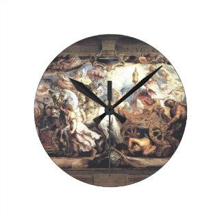 Triumph de la iglesia sobre furia, discordia, y reloj redondo mediano