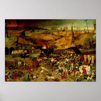 Triumph de la muerte, c.1562 (aceite en el panel) póster