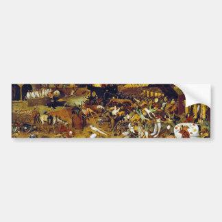 Triumph de la muerte de Pieter Bruegel la anciano Etiqueta De Parachoque