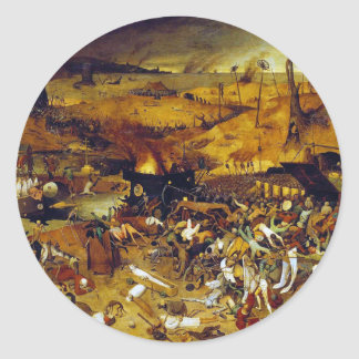 Triumph de la muerte de Pieter Bruegel la anciano Pegatina Redonda