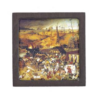Triumph de la muerte (por Pieter Bruegel) Cajas De Recuerdo De Calidad