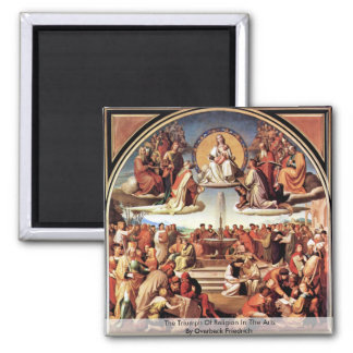 Triumph de la religión en los artes iman de nevera