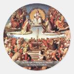 Triumph de la religión en los artes pegatina redonda