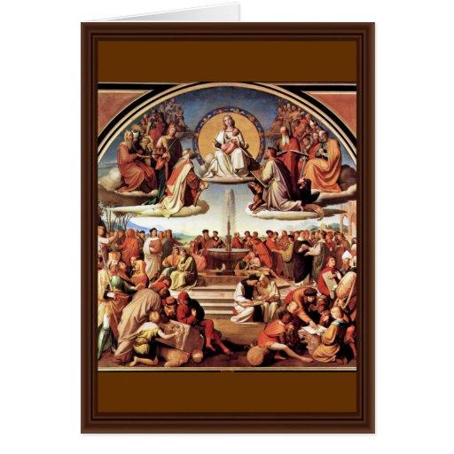 Triumph de la religión en los artes tarjeta