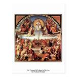 Triumph de la religión en los artes tarjetas postales