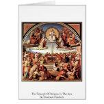 Triumph de la religión en los artes tarjetas