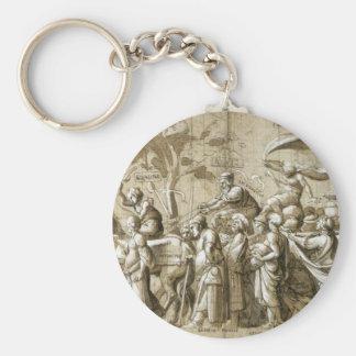 Triumph de la riqueza de Hans Holbein el más joven Llavero Redondo Tipo Pin
