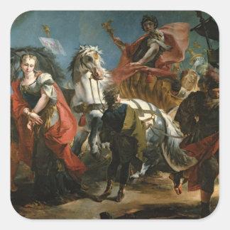 Triumph de Marco Aurelius Pegatina Cuadrada