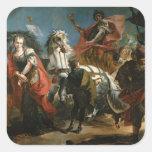 Triumph de Marco Aurelius Pegatinas Cuadradas