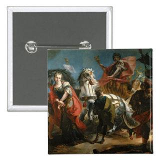 Triumph de Marco Aurelius Pin Cuadrado