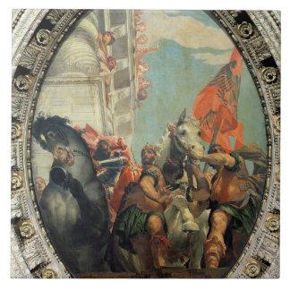 Triumph de Mordecai Azulejo Cuadrado Grande