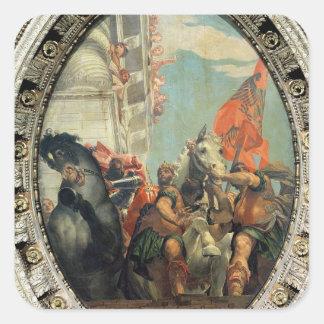 Triumph de Mordecai Pegatina Cuadrada