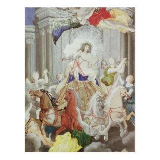 Triumph de rey Louis XIV de Francia Tarjeta Postal