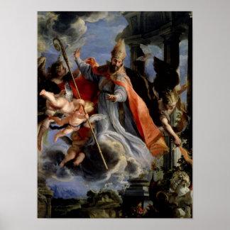 Triumph de St Augustine 1664 Póster