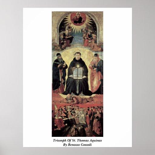 Triumph de St Thomas Aquinas de Benozzo Gozzoli Posters