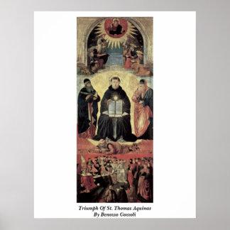 Triumph de St Thomas Aquinas de Benozzo Gozzoli Póster