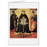 Triumph de St Thomas Aquinas de Benozzo Gozzoli Tarjeton