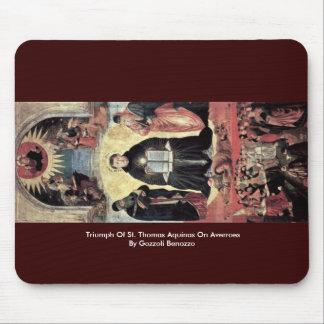 Triumph de St Thomas Aquinas en Averroes Tapete De Ratones