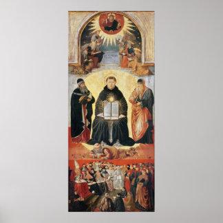 Triumph de St Thomas Aquinas Póster