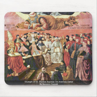 Triumph de St Thomas Aquinas sobre el detalle de A Tapete De Raton