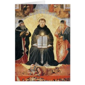 Triumph de St Thomas Aquinas Tarjeta De Felicitación