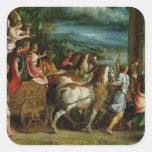 Triumph de Titus y de Vespasian, c.1537 Pegatina Cuadrada