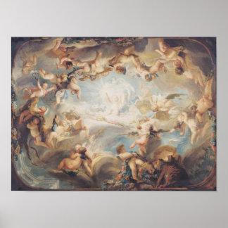 Triumph del Cupid sobre todos los dioses, 1752 Posters