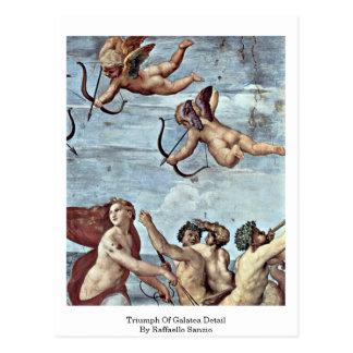 Triumph del detalle de Galatea de Raffaello Sanzio Tarjeta Postal