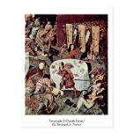 Triumph del detalle de la muerte por Bruegel A. Pi Tarjetas Postales
