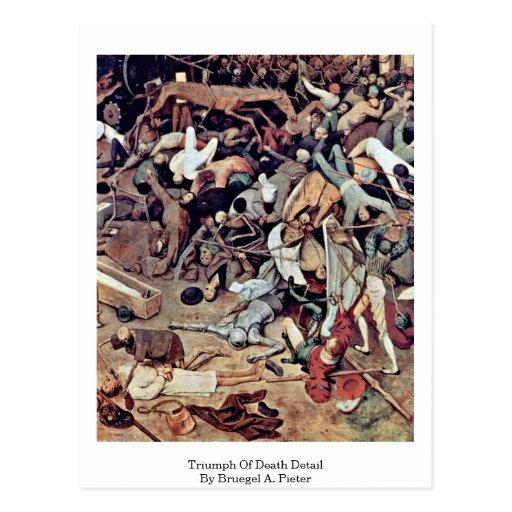 Triumph del detalle de la muerte por Bruegel A. Pi Postal