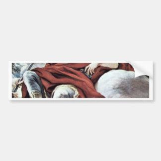 Triumph del Medici en las nubes del soporte Olymp Etiqueta De Parachoque