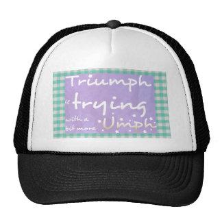 Triumph está intentando con un poco más umph gorro de camionero