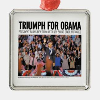 Triumph for Obama Christmas Ornament
