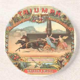 Triumph Harness Racing - Cigarette Advertising Tra Sandstone Coaster