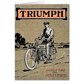 Triumph Hints and Tips for Motorcylists Retro Card