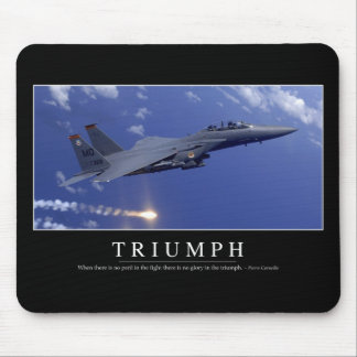 Triumph:: Inspirational Quote 1 Mouse Pad