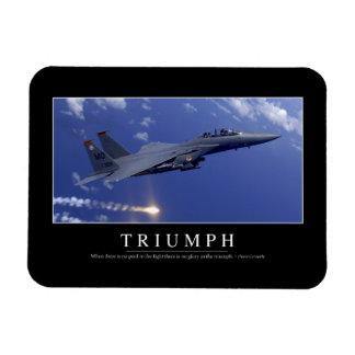 Triumph:: Inspirational Quote 1 Vinyl Magnets